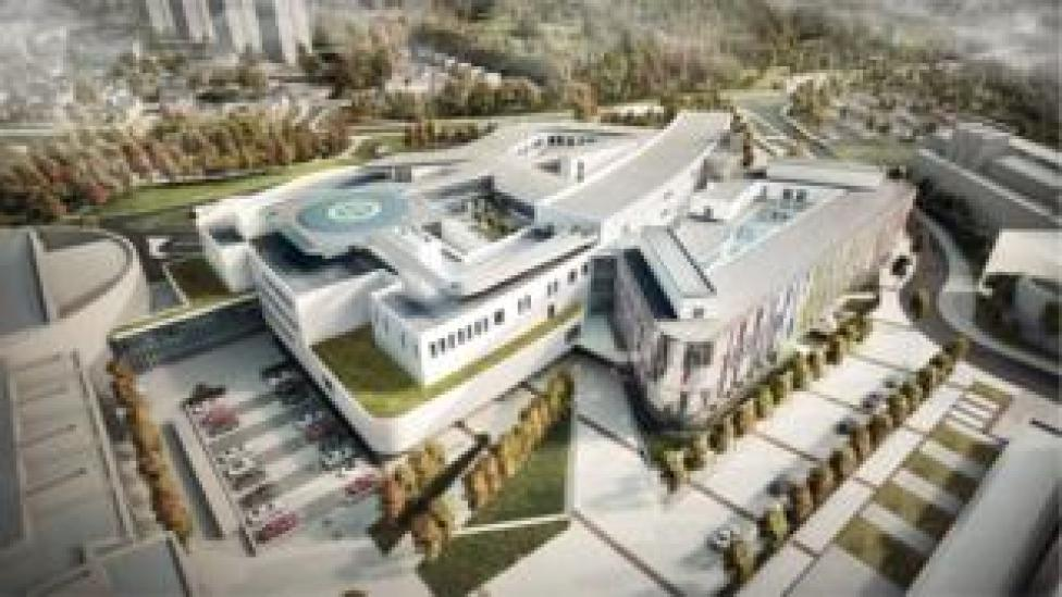 Design drawing of new hospital
