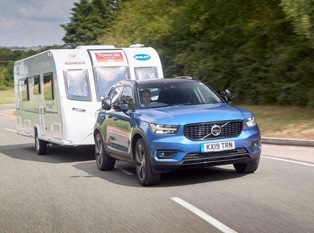 'Effortless': Volvo's XC40 SUV has been named Towcar of the Year 2020 by the Caravan and Motorhome Club
