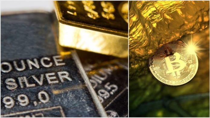 silver, gold, bitcoin