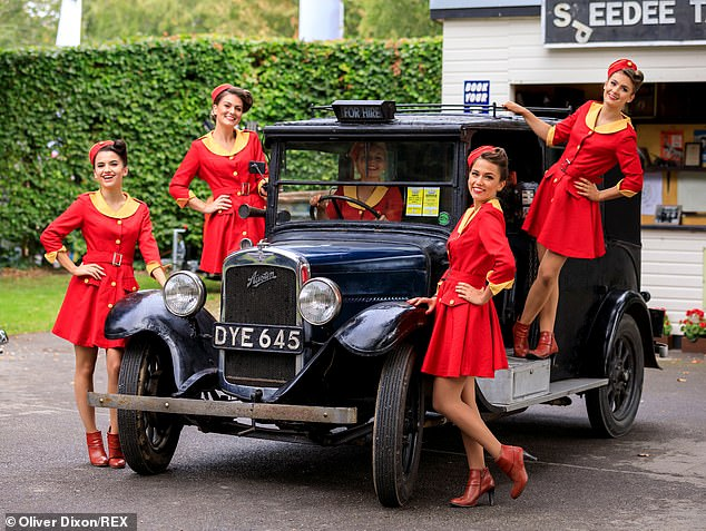 The Glamcab Girls seen at the Goodwood Revival in September, one of the many events held at the estate