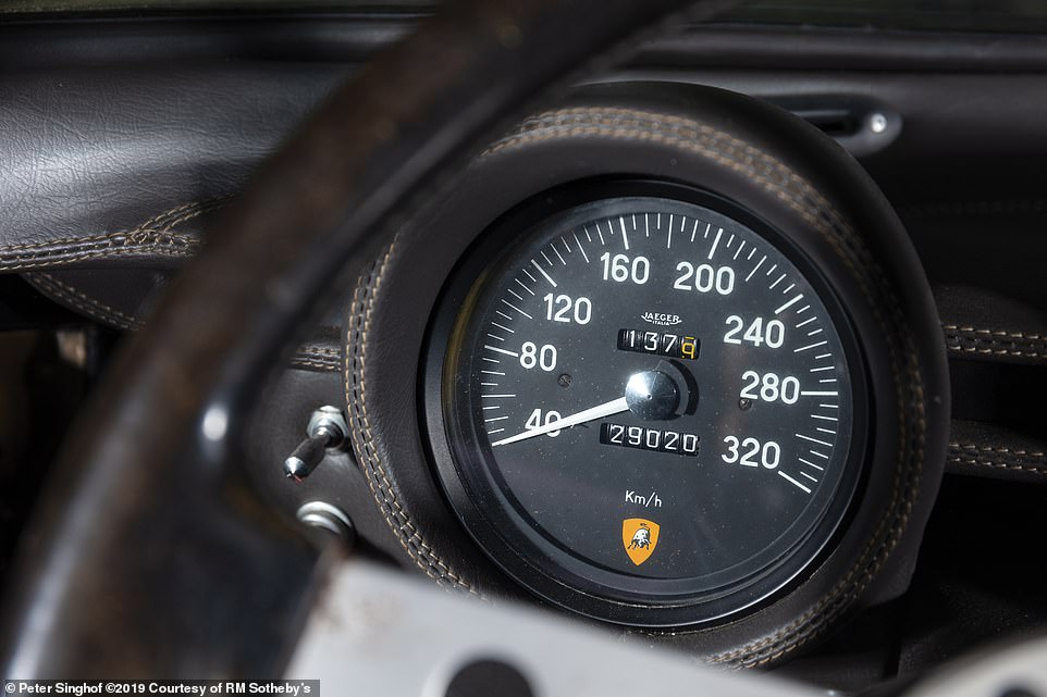The odometer reading says it has covered just 29,020 kilometres - which is a mere 18,032 miles. On average, that works out at the car being driven 360 miles each of the 50 years since it was made