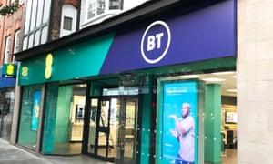 Dual-branded BT-EE shopfront.