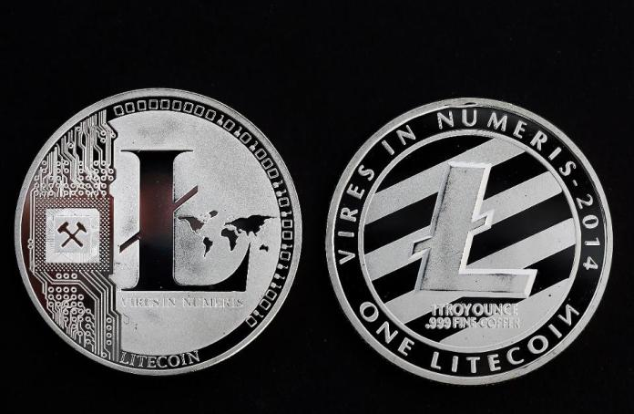 Digital Cryptocurrency Litecoin : Illustration