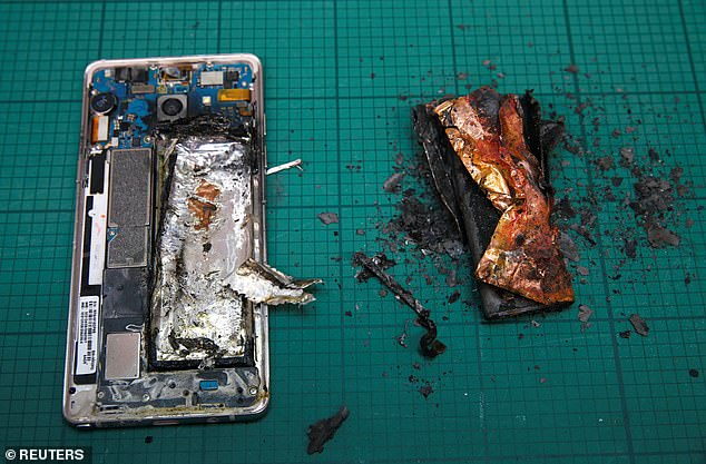 Researchers have developed an incombustible lithium-ion battery that could have saved Samsung billions of dollars during its exploding Galaxy Note 7 fiasco (pictured)
