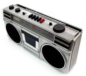 a portable cassette player radio