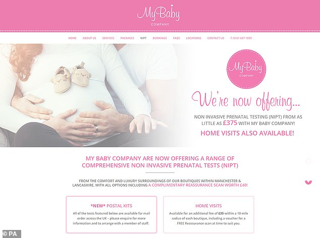 The ASA said that the claim of 99 per cent detection rate made by My Baby Company (pictured) and others was misleading to customers