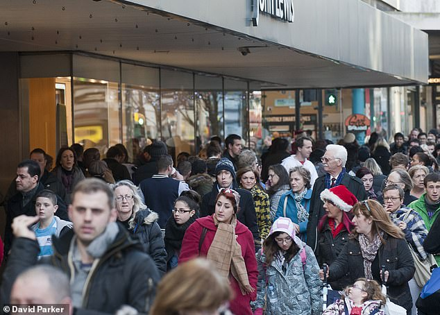 On the march:UK shoppers will each spend £299 on presents, £143 on food and drink, £63 on socialising and £62 on travel