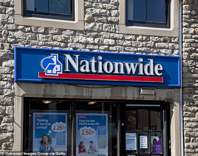 Profit drop: Nationwide's statutory profit fell by 33 per cent from £516million to £309million in the six months to 30 September