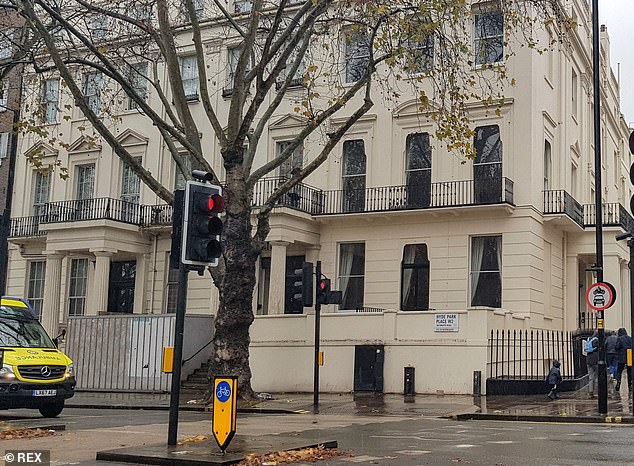 The Hussain family's crown jewel in the capital is One Hyde Park Place (pictured) ¿ a £50million, 16,000 sq ft, Grade II listed mansion overlooking central London's famous park