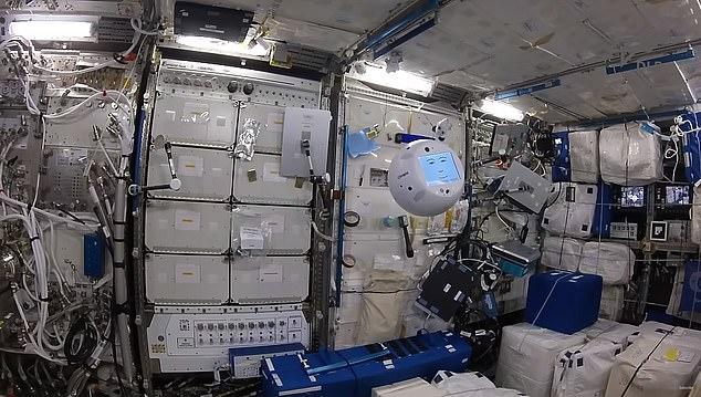 CIMON 2 has a system of twelve rotors inside its spherical shell, which will allow the robot to rotate in any direction to maintain 'eye contact' with astronauts