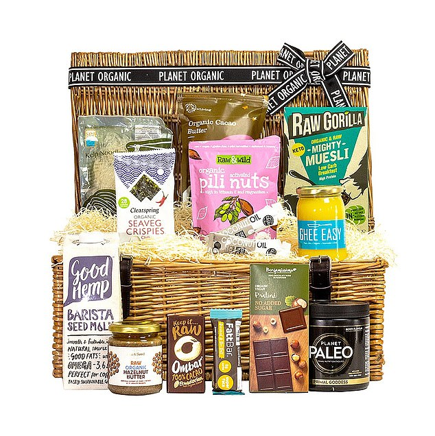 This hamper which costs £95 from the planetorganic.com is for those following a low-carb or keto diet