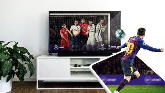 BT Sport is looking to compete with Now TV, iPlayer and Amazon Prime (BT)