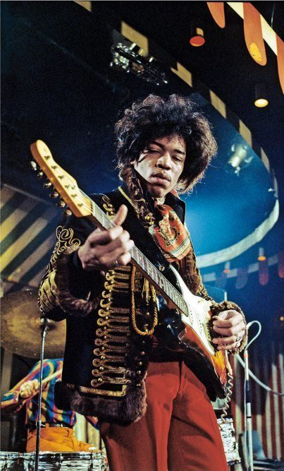 Mandatory Credit: Photo by MARC SHARRATT / Rex Features ( 16987C ) The Jimi Hendrix Experience - Jimi Hendrix at the Marquee Club, London - 02 Mar 1967 Various - 1967