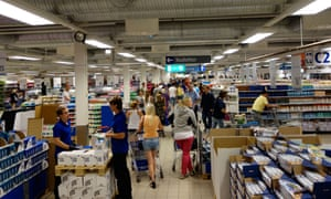 People look for merchandise to shop in Ullared shopping mall.