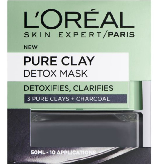 This L'Oreal Paris Pure Clay Charcoal Detox face mask is £7.99 at Boots