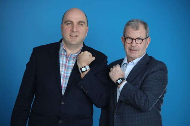 Caption: NightWare founder and CEO Grady Hannah and president Thomas Burke are teaming up to bring the first FDA-cleared digital therapeutic for PTSD to the marketplace.