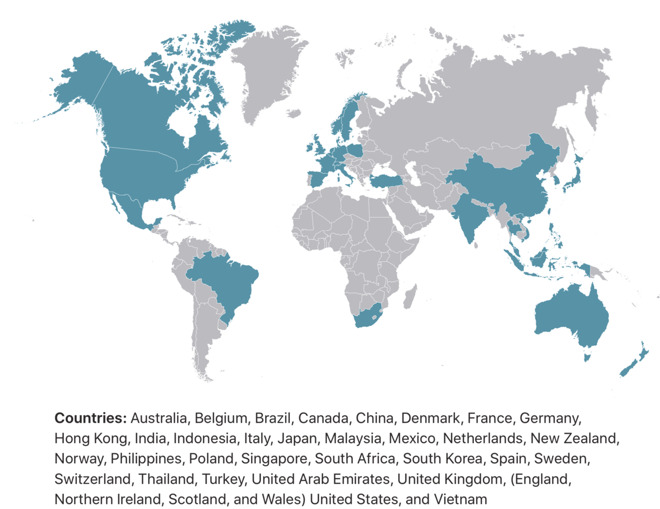 Apple Distinguished Schools across 35 countries