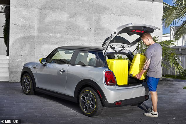The Electric version retains the standard Mini's full 211 litres of boot-space, expanding to 731 litres when the rear backrests are folded down