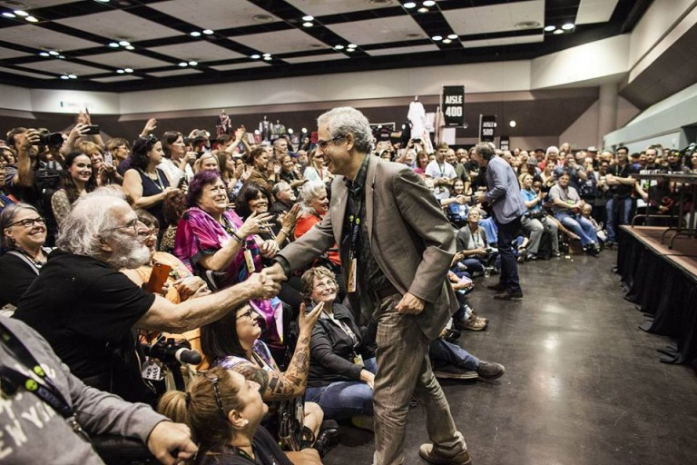 Nick Pope greets fans and supporters at an AlienCon event