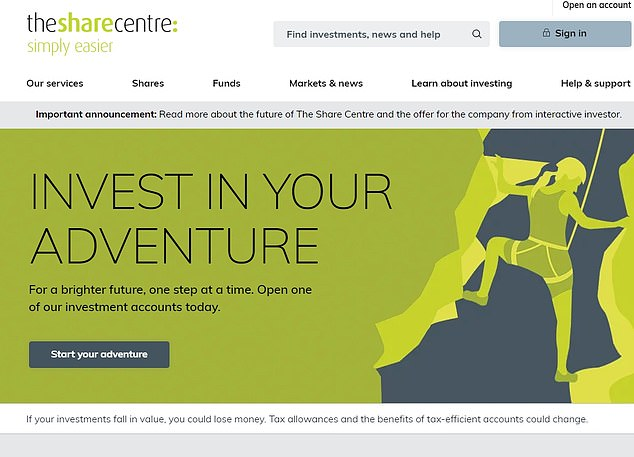 Deal: The Share Centre has agreed a £62m takeover offer by rival Interactive Investor