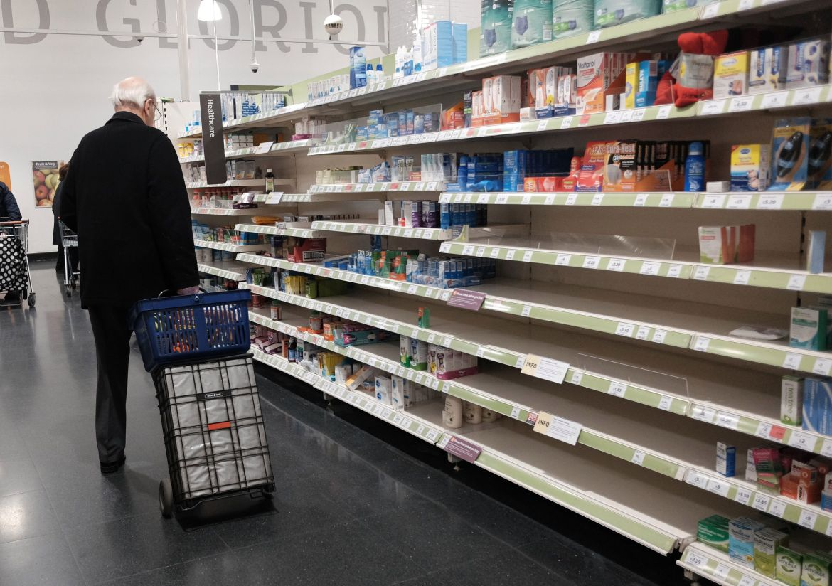 There is no evidence from overseas that supermarkets will be shut. In the worst hit areas of France and Spain and Italy it remains possible to make trips to essential shops in order to stock up.
