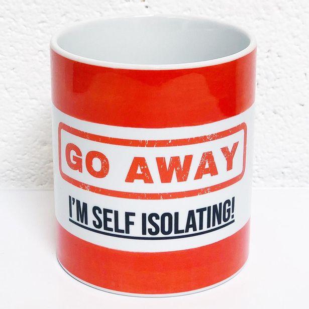 Red Go Away, I'm Self Isolating mug