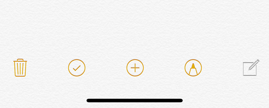 Open a new note on the Notes app and hit the plus symbol to scan a document