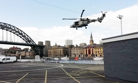 The Navy has been assisting in practice exercises in Newcastle