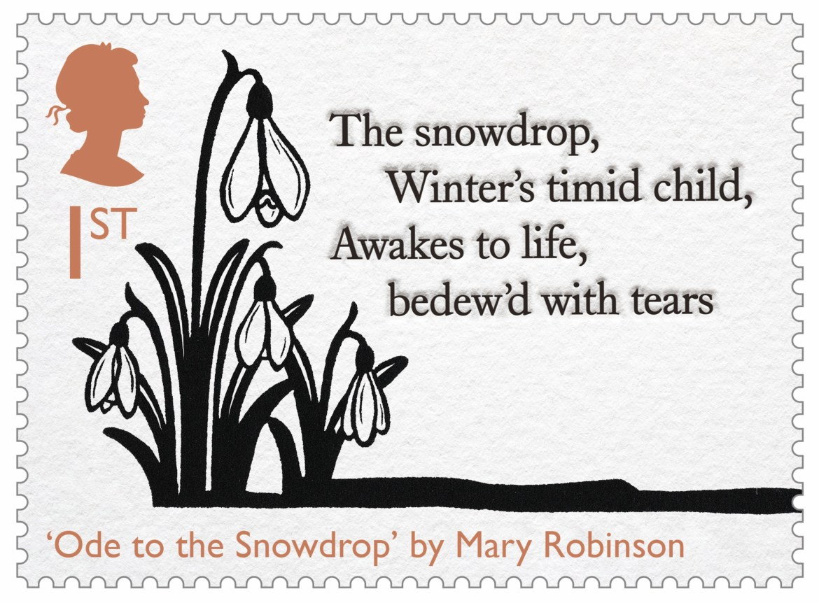 Mary Robinson's 'Ode to the Snowdrop' is commemorated in the set