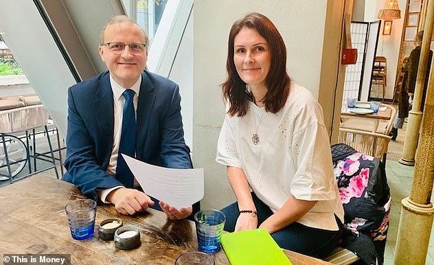 Call for full pension credit backdating: Former Pensions Minister Steve Webb, pictured left, met Emma Maslin, right, met to discuss the campaign last year