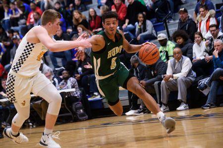 Ann Arbor Huron at Saline district basketball