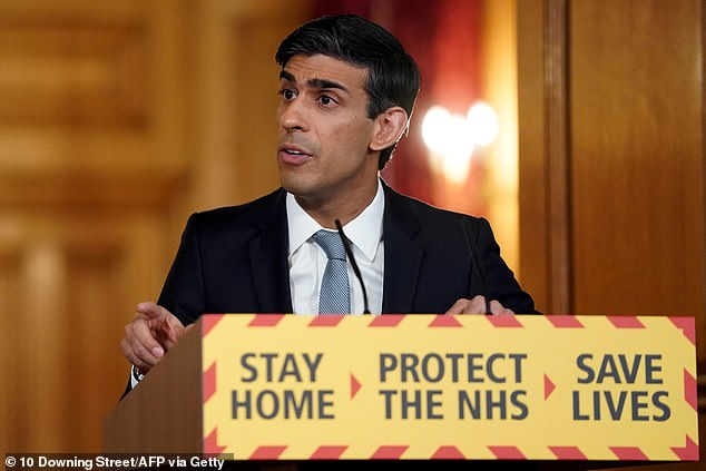 Lending block: Chancellor Rishi Sunak said he was looking at ways to 'streamline' and 'simplify' the Government's vital Coronavirus Business Interruption Loans Scheme process