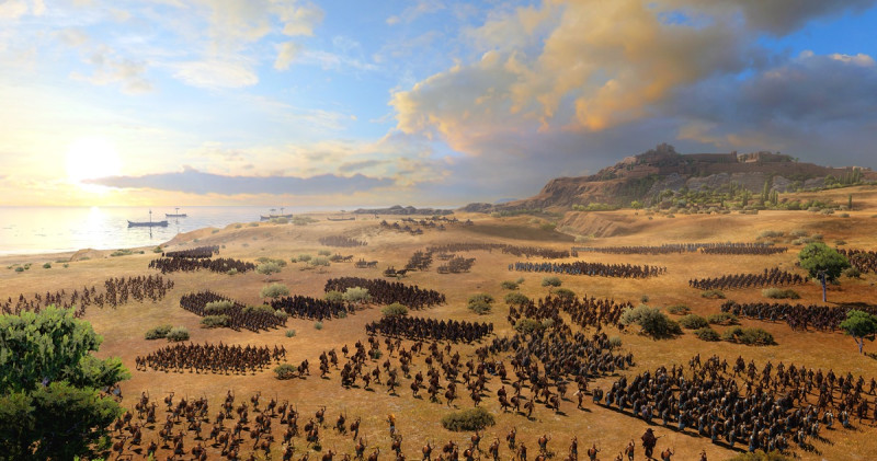 Total War Saga: Troy will pit thousands of Greeks against the Trojans in real-time strategy battles.