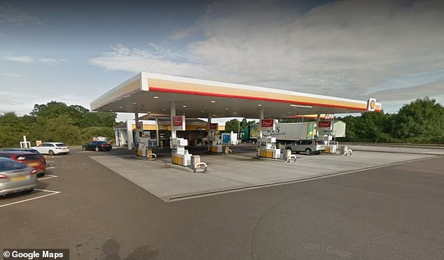 At Taunton Deane services (pictured) on the M5, the price of unleaded at the Shell station is 135.9p per litre - 36.2p more expensive than Morrisons and Asda