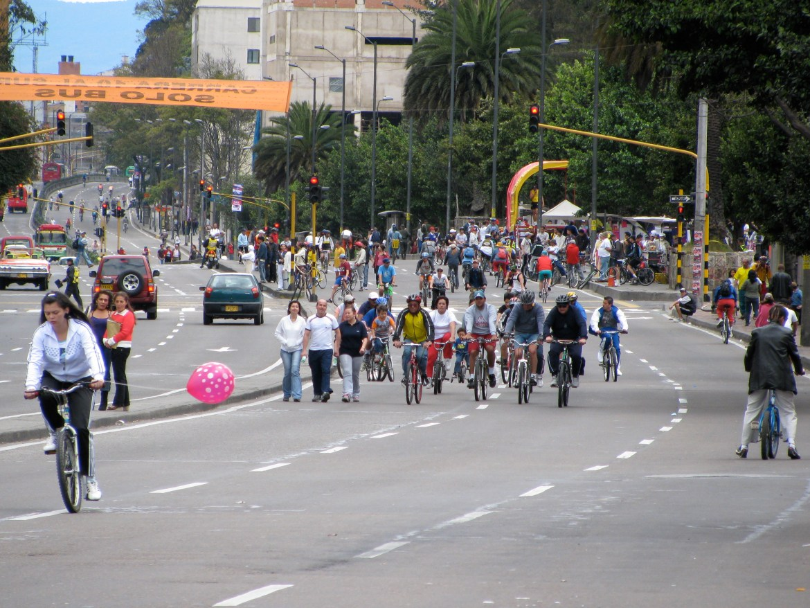 Bogota cycling Sunday road closures