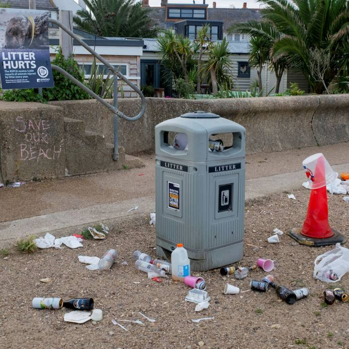 Tourists spots such as Whitstable are reporting an increase in littering