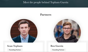 Topham Guerin's founders, Sean Topham and Ben Guerin, pictured on the company's website.