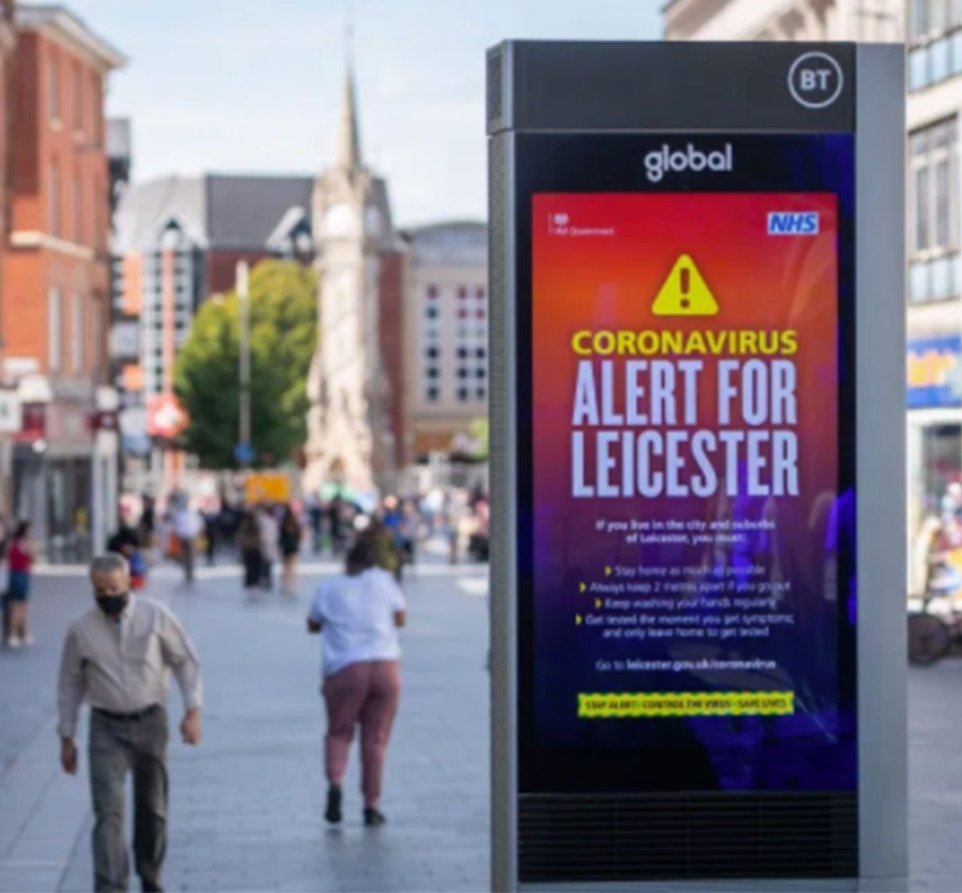 Leicester was the first area in the UK to go into local lockdown