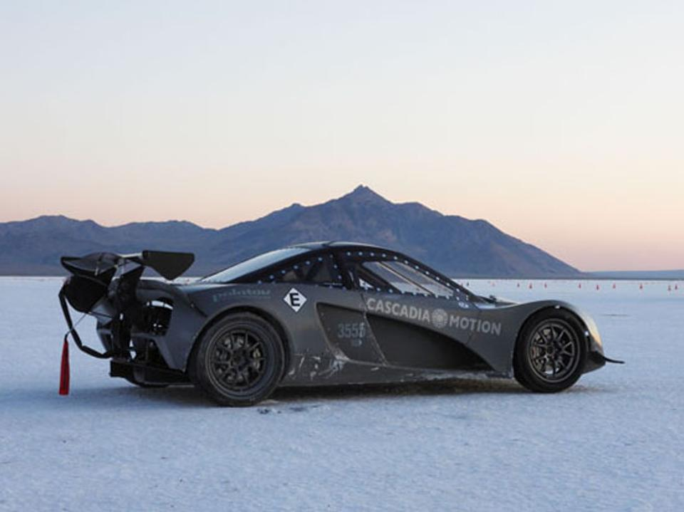 The Palatov D2EV on Bonneville Salt Flats in 2019.