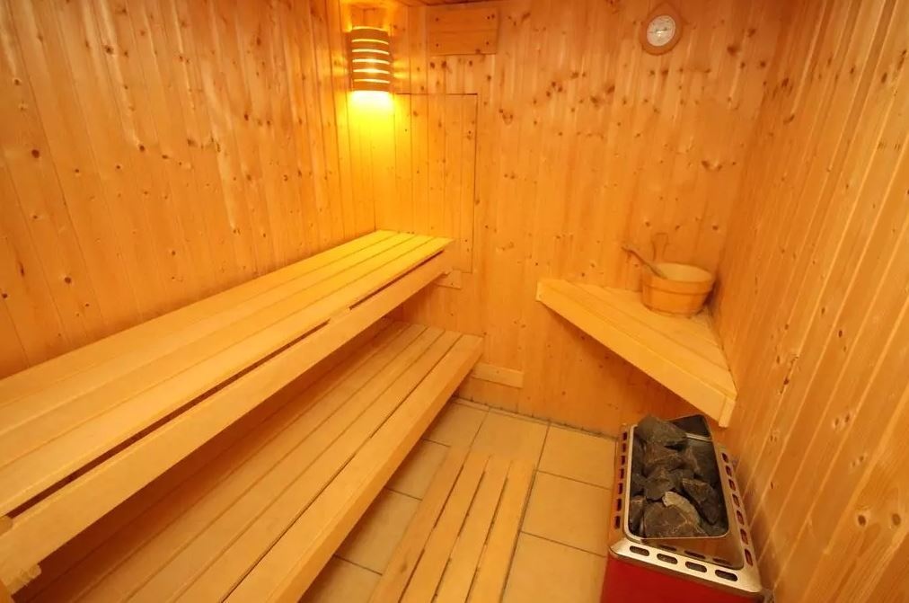 The bungalow is also fit with its own sauna