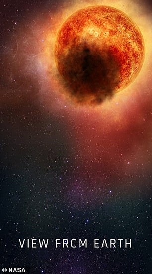 The mysterious change started in October 2019 and a year later Betelgeuse had returned to its normal brightness, suggesting the dark cloud finally disappeared into space