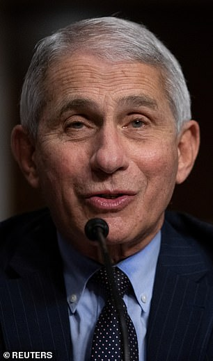 Redfield and Dr Anthony Fauci (pictured) said they expect 700 million doses of a COVID-19 vaccine will be available by spring 2021.Pictured: Fauci testifies before the Senate, Wednesday