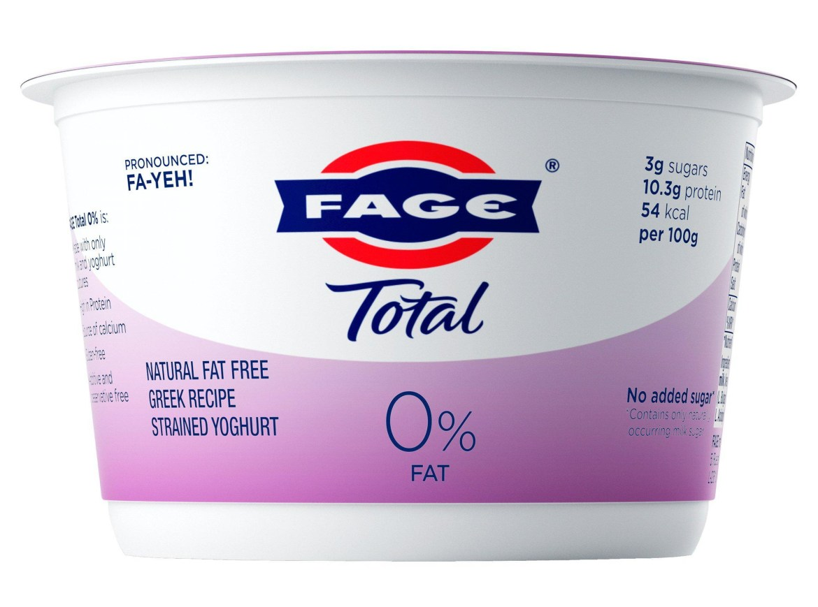 Sainsbury's has slashed the price on the FAGE Total 0% yoghurt