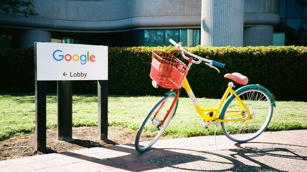 Google HQ and bike