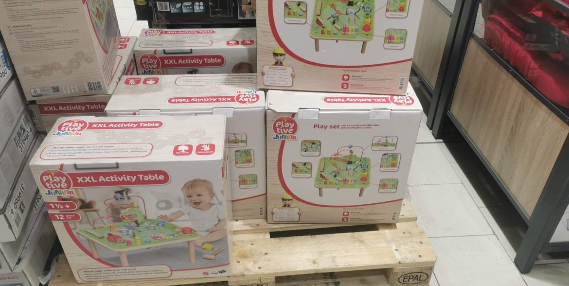 The activity table has proven popular with Lidl shoppers