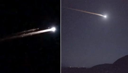 Meteorites appear as shooting stars or fireballs in the sky