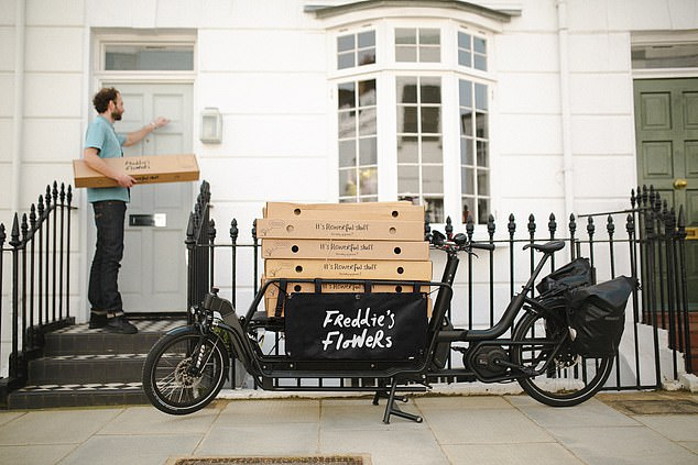 Freddie's Flowers has recently been certified carbon neutral, and all deliveries within the M25 will be done by electric bikes within a year