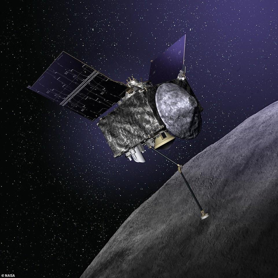 NASA's OSIRIS-Rex spacecraft pictured above in October 2018