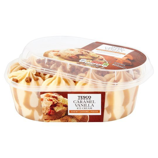 But a tub of Tesco Caramel & Vanilla ice cream is just £1.70