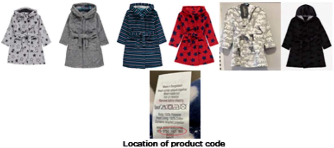 Asda is recalling each one of these dressing gowns with the specific product codes over fears they could catch fire